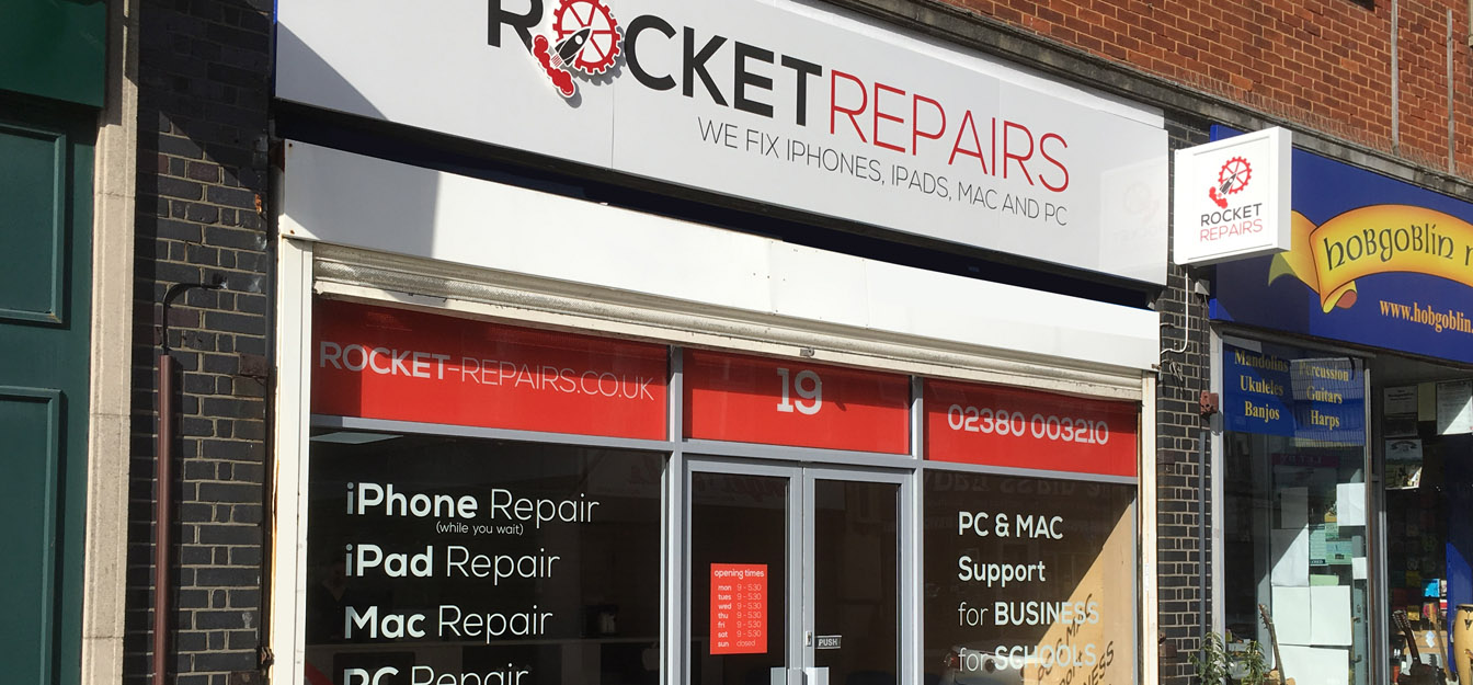 shop window rocket repairs